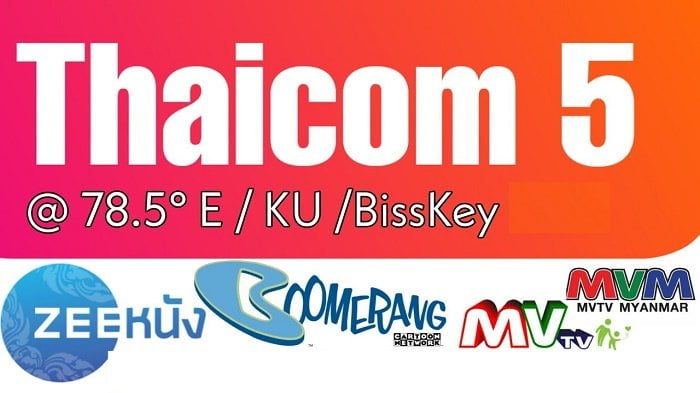 Photo of Thaicom (78.5 East) Satellite Biss Key Channels